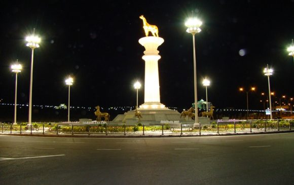 Türkmenistan Anıt Aydınlatması